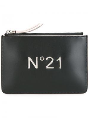 Клатч с логотипом Nº21. Цвет: чёрный