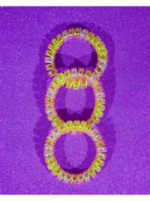 Резинка пружинка 3 шт. Bizon. Цвет: золотистый