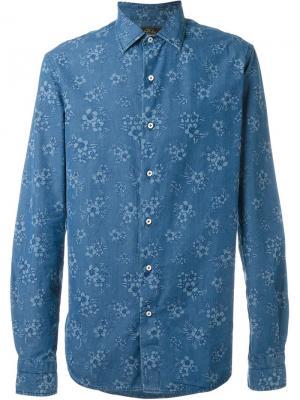 Рубашка с цветочным принтом Gabriele Pasini. Цвет: синий