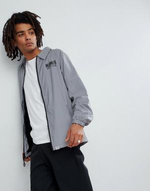 Billionaire Boys Club Светоотражающая спортивная куртка. Цвет: серый