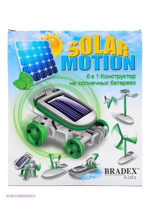 Конструктор на солнечных батареях 6 в 1 SOLAR MOTION BRADEX. Цвет: светло-зеленый