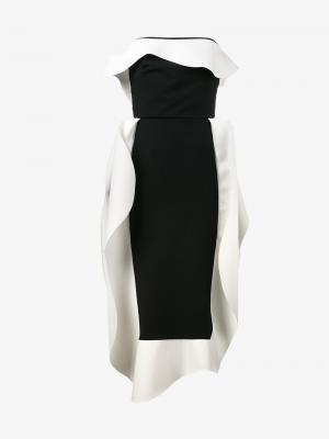 Платье с пышными рюшами A.W.A.K.E.. Цвет: чёрный