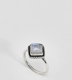 Rock 'N' Rose Серебряное кольцо с лунным камнем и стразами N. Цвет: серебряный