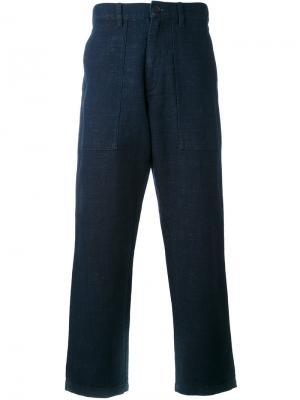 Костюмные брюки Edwin. Цвет: синий