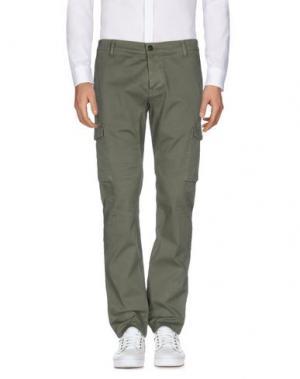 Повседневные брюки SSEINSE. Цвет: зеленый-милитари