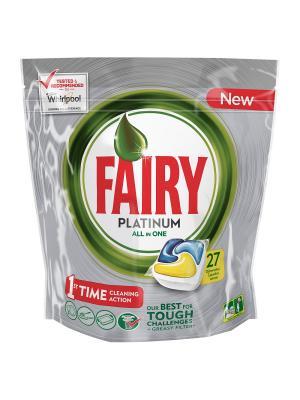 Капсулы для посудомоечной машины Platinum Лимон (27 шт./уп.) Fairy. Цвет: серебристый