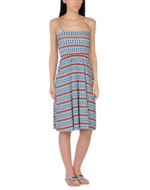 Пляжное платье SIYU. Цвет: лазурный
