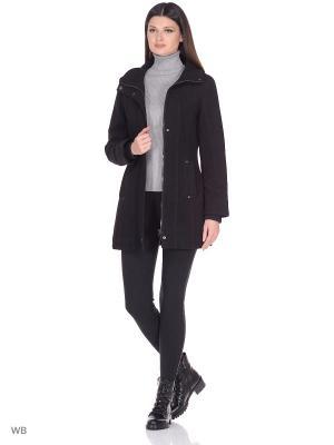 Пальто lawiggi. Цвет: черный