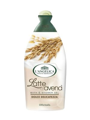 Гель для душа и ванны  СЛАДКИЙ ДЕЛИКАТЕС с овсяным молочком 500 мл L'Angelica. Цвет: бежевый