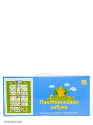 Плакат Пластилиновая азбука Жирафики. Цвет: зеленый, голубой