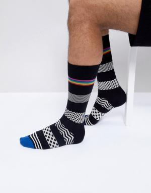 Paul Smith Черные носки в горошек и полоску. Цвет: черный
