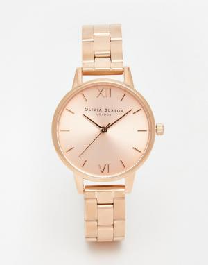 Olivia Burton Часы-браслет с циферблатом среднего размера. Цвет: золотой