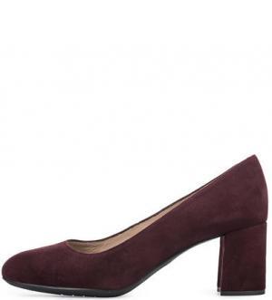 Бордовые замшевые туфли UNISA. Цвет: бордовый