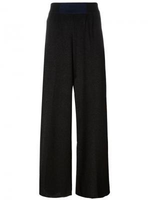 Прямые брюки с блестками Circus Hotel. Цвет: чёрный