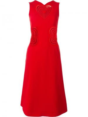 Платье макраме Christopher Kane. Цвет: красный