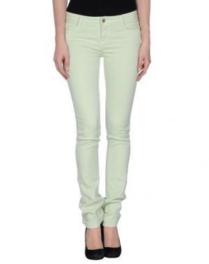 Джинсовые брюки ACQUAVERDE. Цвет: светло-зеленый