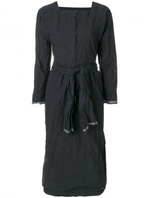 Платье с квадратным вырезом Daniela Gregis. Цвет: серый