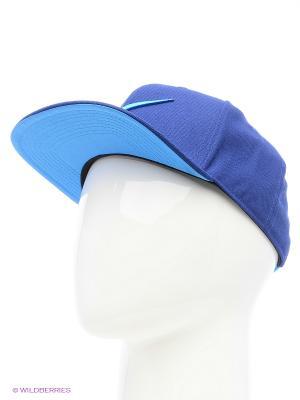 Бейсболка SWOOSH PRO - BLUE Nike. Цвет: синий, голубой