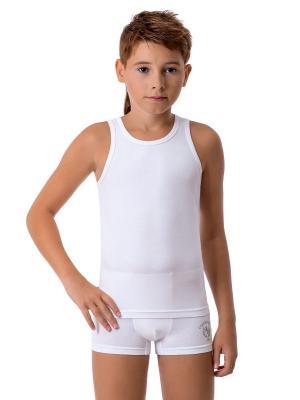Майка-борцовка для мальчиков Nirey. Цвет: белый