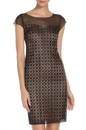 Прилегающее платье с застежкой на пуговицу Cristina Effe. Цвет: 5880-6a 5, nero/carne