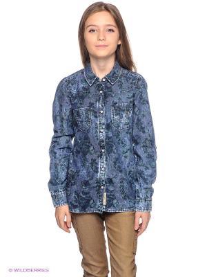 Рубашка GARCIA. Цвет: синий, зеленый