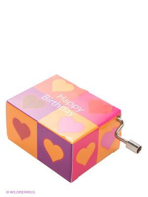 Музыкальная шкатулка Четыре сердца FRIDOLIN. Цвет: розовый