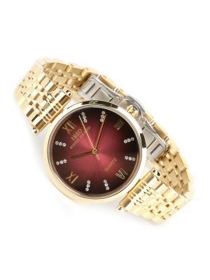 Часы на браслете IBSO. Цвет: бордовый, золотистый