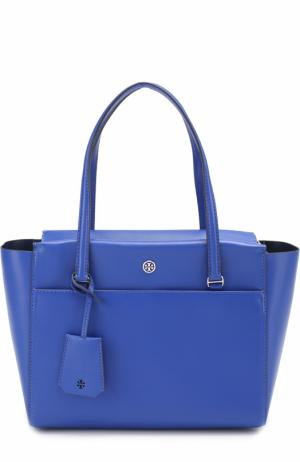 Сумка-тоут Parker Small Tory Burch. Цвет: синий
