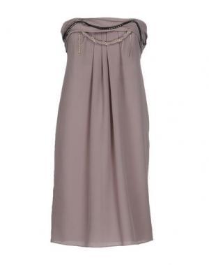 Короткое платье TOY G.. Цвет: светло-коричневый