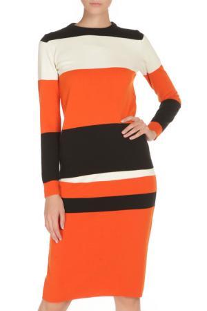 Юбка-свитер BGN. Цвет: хурмы - чёрный - кремовый