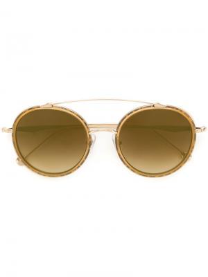 Солнцезащитные очки с градиентными линзами Matsuda. Цвет: металлический