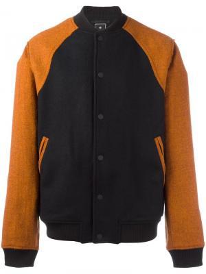 Куртка-бомбер Maharishi. Цвет: чёрный