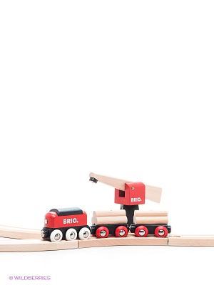 Железная дорога для малышей BRIO. Цвет: бежевый, красный