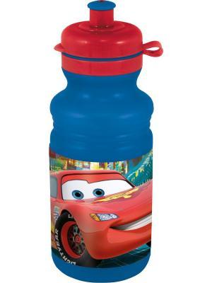Бутылка пластиковая (спортивная, 500 мл). Тачки Stor. Цвет: красный, синий