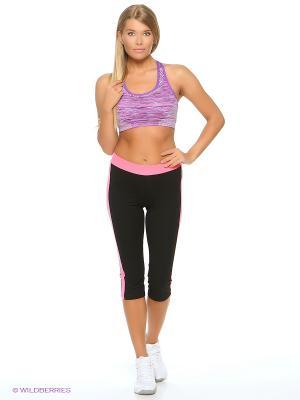 Спортивный топ Pro-Fit. Цвет: фиолетовый, розовый