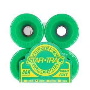 Колеса для скейтборда лонгборда  Star Trac Premium Green 86A 65mm Kryptonics. Цвет: зеленый