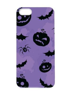 Чехол для iPhone 5/5s Хеллоуин Арт. IP5-058 Chocopony. Цвет: фиолетовый, черный