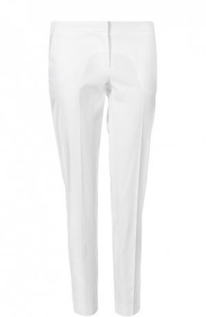 Прямые хлопковые брюки со стрелками Ermanno Scervino. Цвет: белый