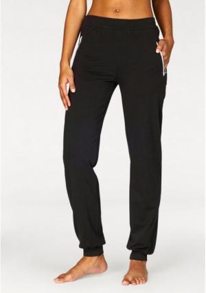 Спортивные брюки Lascana. Цвет: темно-серый/медный