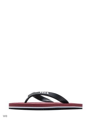 Шлепанцы Effa. Цвет: черный, бордовый