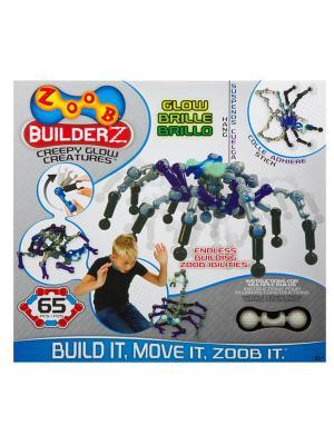 Подвижный конструктор Светящиеся Существа ZOOB 14003. Цвет: прозрачный, серый, синий, фиолетовый, черный