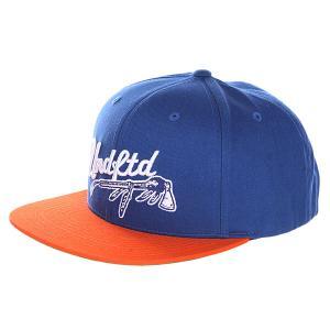 Бейсболка с прямым козырьком  War Paint Cap Blue Undefeated. Цвет: синий,оранжевый