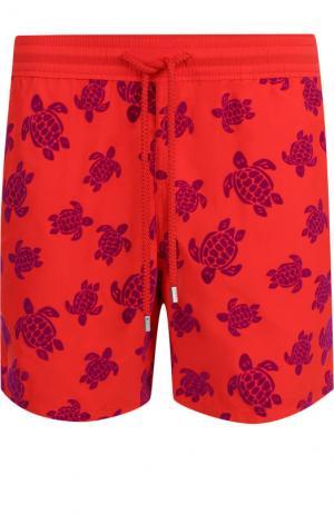 Плавки-шорты с принтом Vilebrequin. Цвет: красный