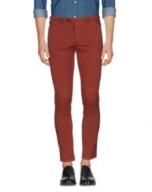Повседневные брюки DAVID NAMAN. Цвет: кирпично-красный