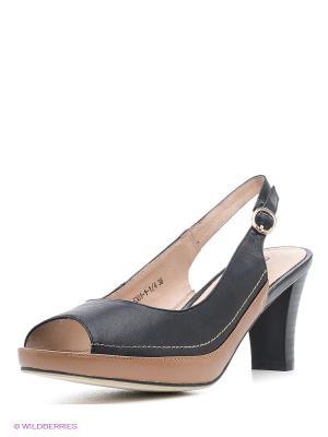 Туфли Amazonga. Цвет: черный, коричневый