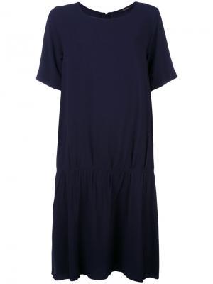 Платье свободного кроя Odeeh. Цвет: синий