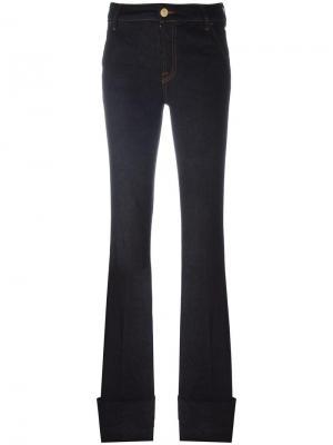 Расклешенные джинсы с отворотами Dont Cry Don't. Цвет: синий