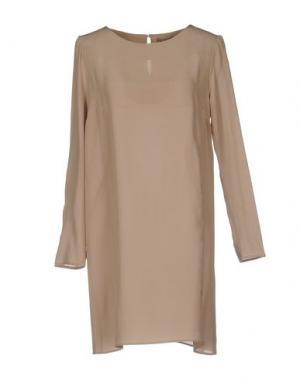Короткое платье PUROTATTO. Цвет: голубиный серый