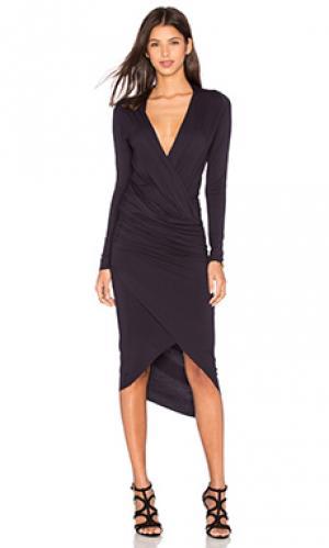 Платье с запахом cassie CHARLI. Цвет: черный