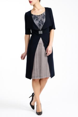 Платье PAOLA COLLECTION. Цвет: бежевый